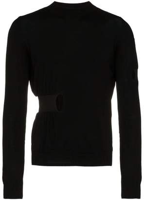 Helen Lawrence Elastic panel cut-out sweater
