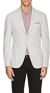 Barneys New York Men's Basket-Weave Cotton-Linen Two-Button Sportcoat - Cream