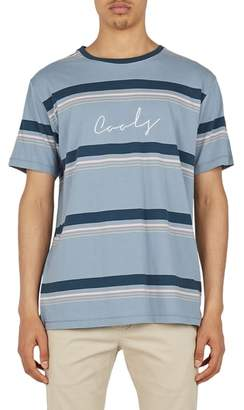 Barney Cools Embroidered Script Stripe T-Shirt