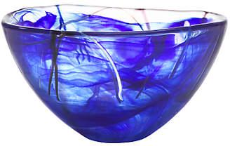Kosta Boda Contrast Bowl, Blue
