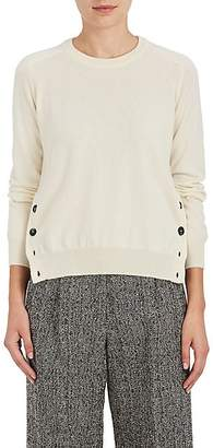 Barneys New York Women's Button-Vent Cashmere Sweater - Ivorybone