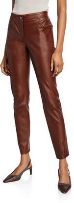 Brunello Cucinelli Leather 4-Pocket Leggings