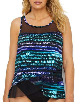 Miraclesuit Cat Bayou Mirage Underwire Tankini Top DD-Cups