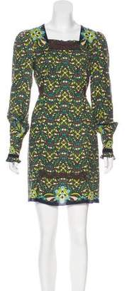 Anna Sui Belted Printed Dress