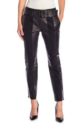 Frame Lamb Leather Paneled Pants