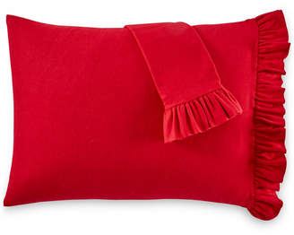 Martha Stewart Collection Ruffle Cotton Pair of Standard Pillowcases, Created for Macy's