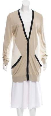 Magaschoni Silk-Cashmere Colorblock Cardigan