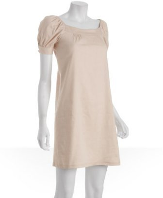 Fashionista ballet pink stretch linen 'Mikka' shift dress