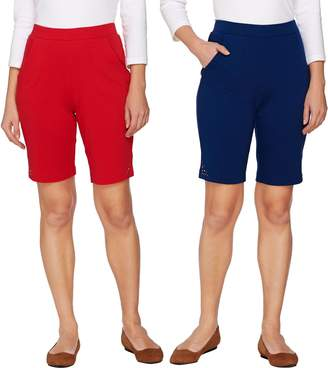 Factory Quacker Set of 2 Pull-On Knit Shorts