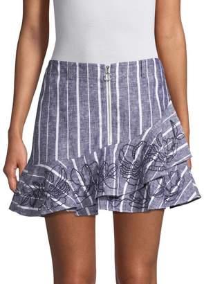 Parker Zoro Stripe Ruffled Skirt