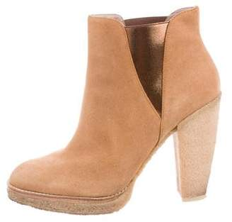 Sigerson Morrison Belle by Suede Round-Toe Ankle Boots