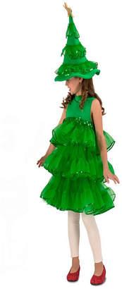 BuySeasons Glitter Christmas Tree Kids Costume