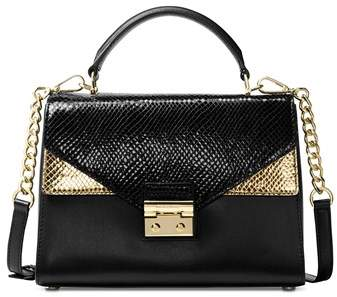 Michael Kors Sloan Embossed Leather Top Handle Satchel. - MULTIPLE COLORS - STYLE
