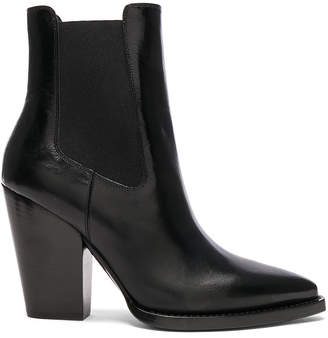 Saint Laurent Leather Theo Heeled Chelsea Boots