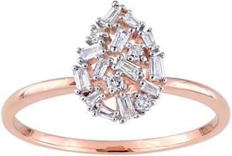 Affinity Diamond Jewelry Affinity 1/5 cttw Diamond Cluster Ring, 14K Gold