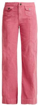 MiH Jeans Paradise Corduroy Wide Leg Trousers - Womens - Pink