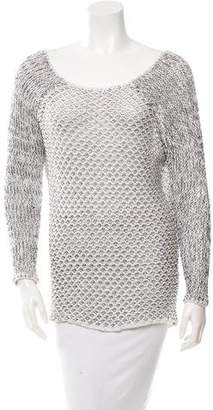 Helmut Lang Open Knit Scoop Neck Sweater