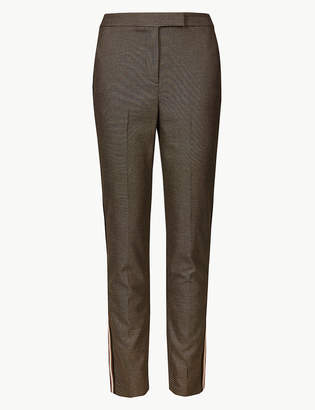 Marks and Spencer Checked Slim Leg Ankle Grazer Trousers