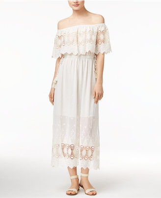 Astr Tatiana Off-The-Shoulder Maxi Dress $140 thestylecure.com