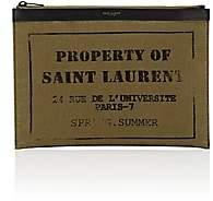 Saint Laurent Men's Army Medium Tablet Case-Olive