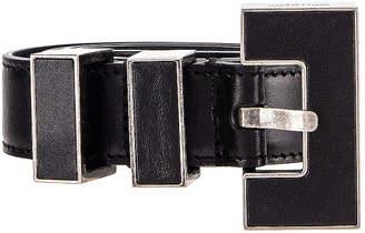 Saint Laurent Leather Belt in Black | FWRD