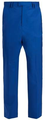 Martine Rose Straight Leg Wool Trousers - Mens - Blue