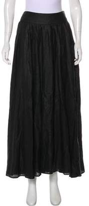 Genny Pleated Linen Skirt w/ Tags