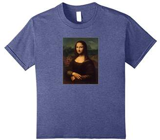 Mona Lisa painting with UFO and Alien t-shirt