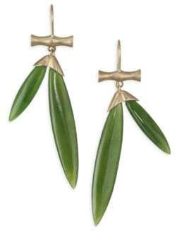 Annette Ferdinandsen Tropical Jade Bamboo Drop Earrings