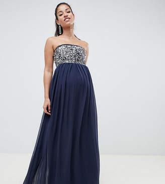 66a0ca95567e6 Asos DESIGN Maternity EXCLUSIVE star embellished bandeau maxi dress