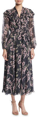 Zimmermann Fleeting Flounce Floral Long-Sleeve Maxi Dress