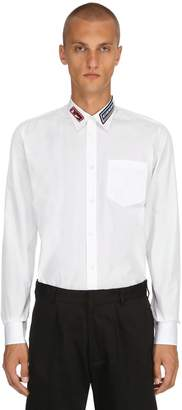 Givenchy Cotton Shirt W/ Logo Patch Details