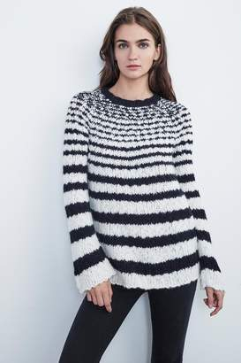 Velvet by Graham & Spencer FRANKIE ALPACA SLUB STRIPE SWEATER