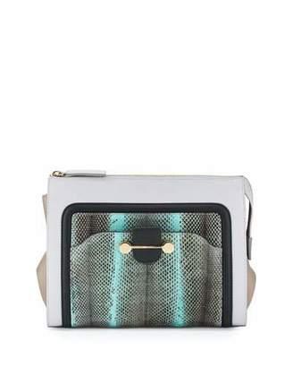 Jason Wu Daphne Watersnake & Leather Clutch Bag, Glass $1,995 thestylecure.com