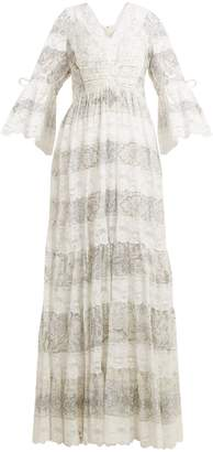 Etro Lace-trimmed floral-print cotton-blend dress
