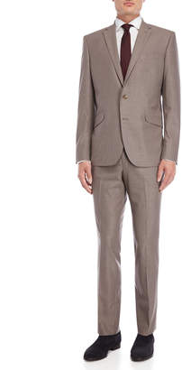 Kenneth Cole Reaction Two-Piece Khaki Slim Fit Suit