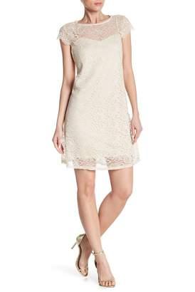 Marina Metallic Lace Dress
