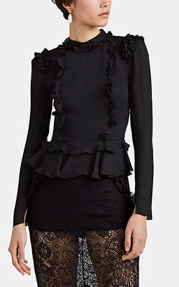 Chloé Laura Garcia Collection Women's Silk Georgette Ruffle Blouse - Black