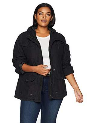 Levi's Women's Plus Size Cotton Four Pocket Hooded Field Jacket
