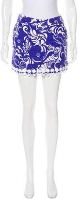 Lilly Pulitzer Seersucker Floral Skirt