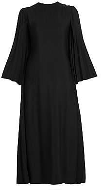 Valentino Women's Pleated Back Viscose Dress