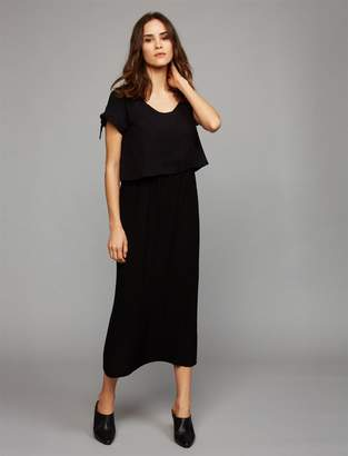 Lift Up Mock Layer Nursing Dress
