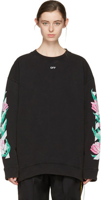Off-White Black Diagonal Tulips Pullover $570 thestylecure.com