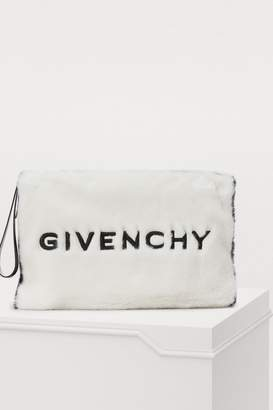 Givenchy Faux shearling clutch