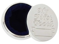 English Trousseau Silver Plated Tooth Box