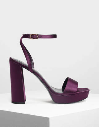Charles & Keith Sequin Heeled Sandals