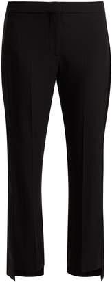 Alexander McQueen Satin-striped crepe tuxedo trousers