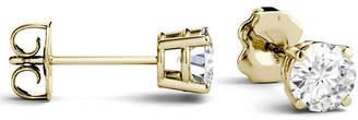 Charles & Colvard Moissanite Stud Earrings (1 ct. t.w. Diamond Equivalent) in 14k White or Yellow Gold