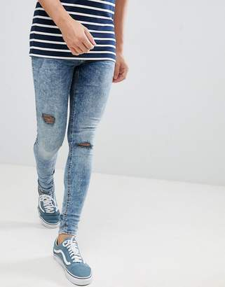 Blend of America Flurry Muscle Fit Jeans in Blue Black