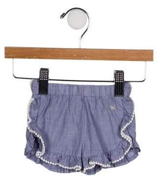 Lili Gaufrette Girls' Woven Ruffle-Accented Shorts